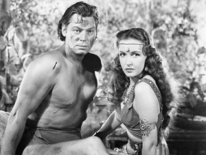 Johnny-Weissmuller-and-Frances-Gifford-in-Tarzan-Triumphs-1943-RKO